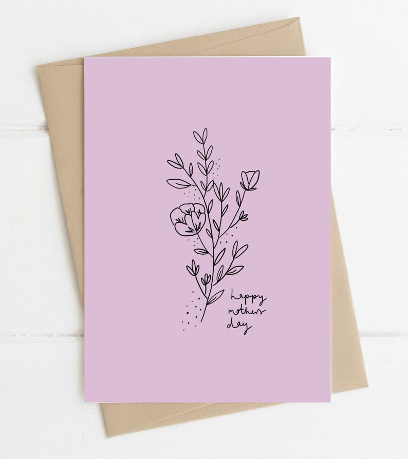 Mothers Day Card // Mothers Day Flowers // Pretty Mothers Day image 0
