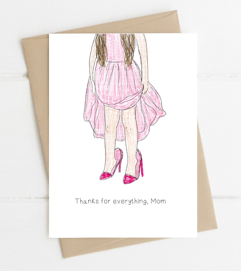 Mothers Day Card // Thanks For Everything Mom image 0