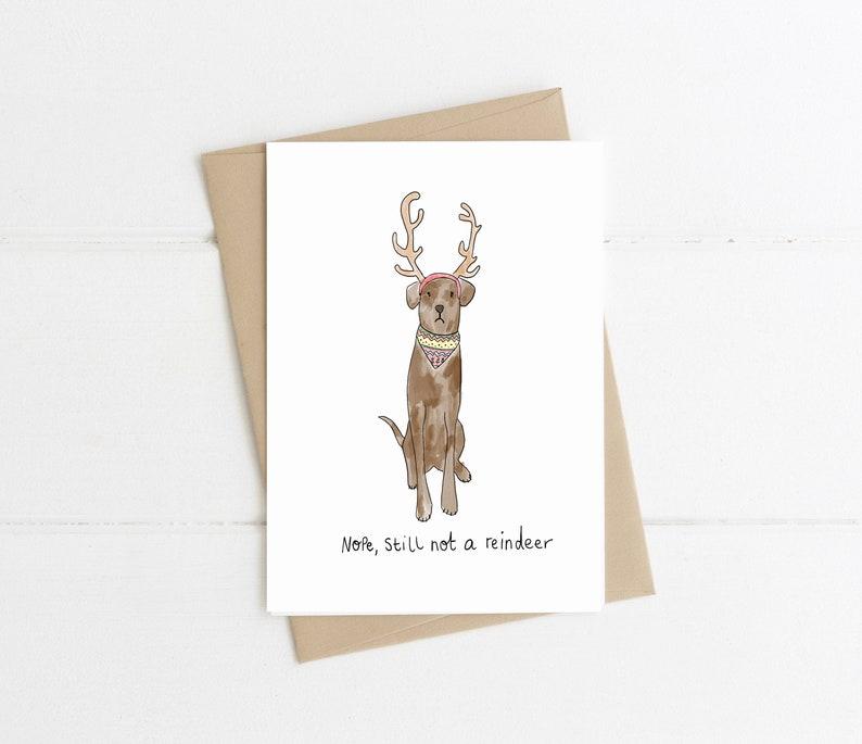 8610550e61a Reindeer Dog Christmas Card