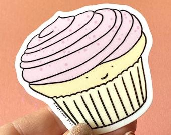 Vanilla Cupcake vinyl sticker // cute sticker // cupcake sticker
