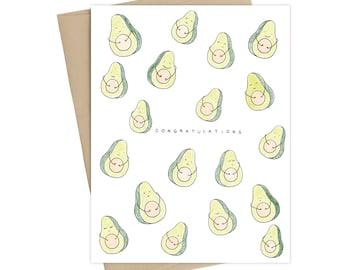 Avocado Pregnancy Card // Baby Shower Card // Baby Card