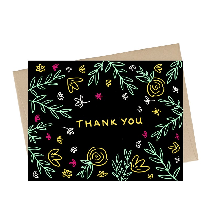 Thank You Card // Floral Thank you Card image 0