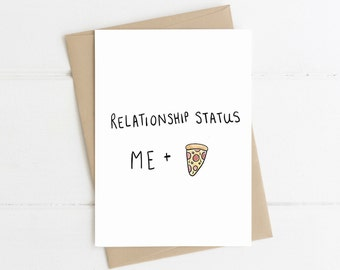Pizza Valentines Card // Funny Card // Funny pizza card