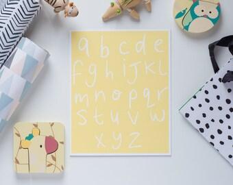 ABC Nursery Print // Kids Room // Kids Art // ABCDEFG