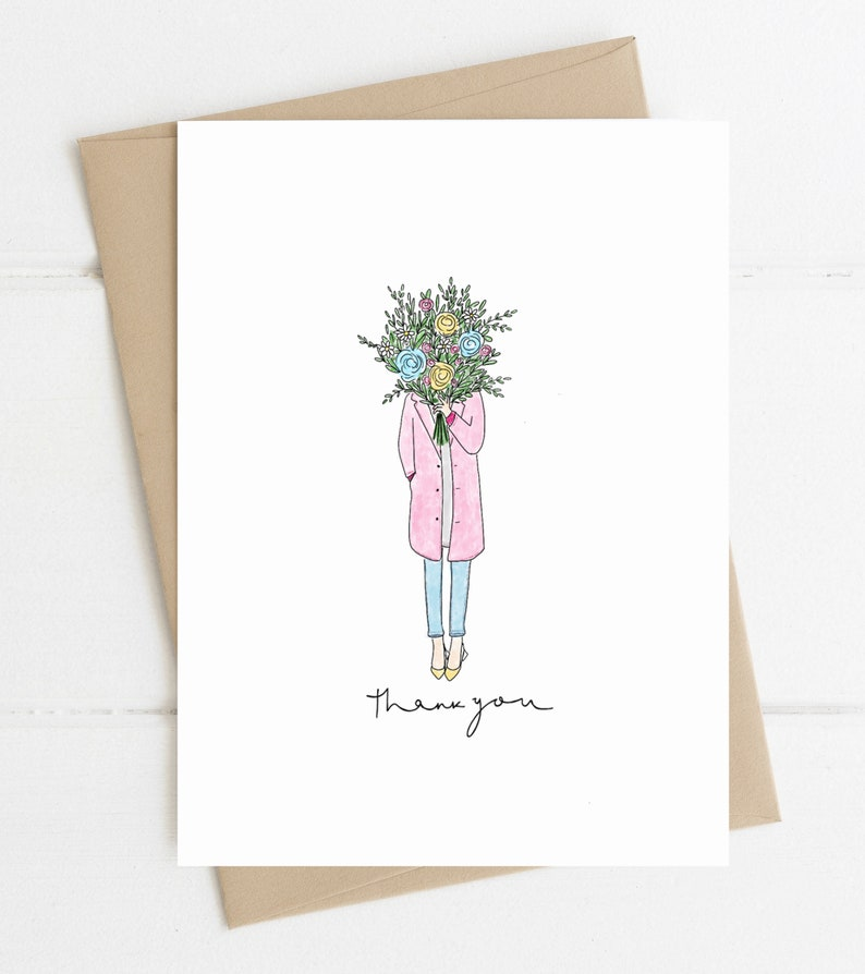 Thank You Card // Flowers Thank you image 0