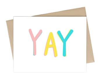 Wedding Card // YAY // New Baby Card // Congratulations Card