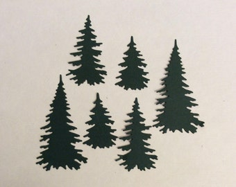 Evergreen Trees Diecuts - 2 Sets