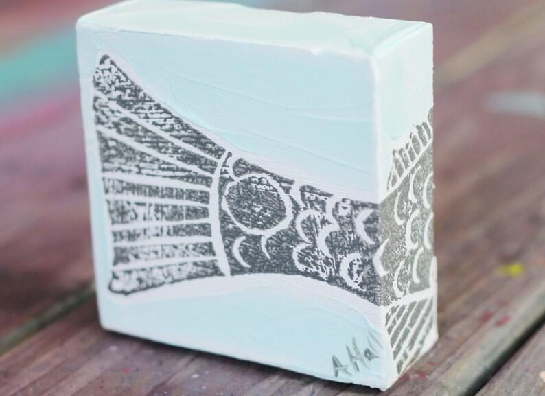 Blockprinted Redfish Tail Canvas image 0