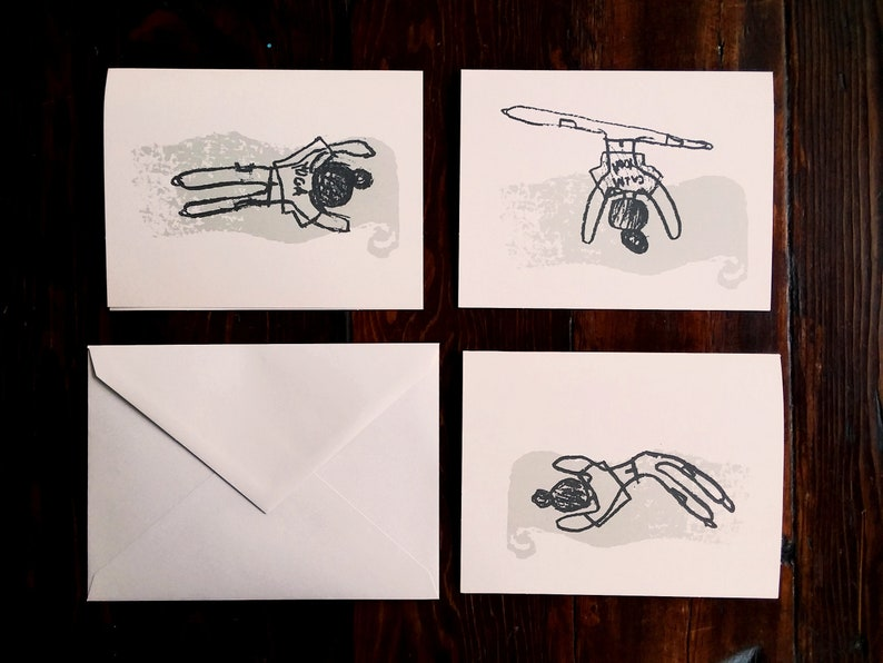 Yoga Note Card Set / Yoga Drawing Note Cards image 0