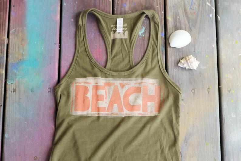 Hand Painted/Printed Beach Racerback Tank Top image 0