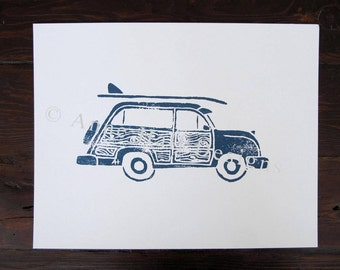 VINTAGE WOODY Hand-Printed (11 x 14 inches)
