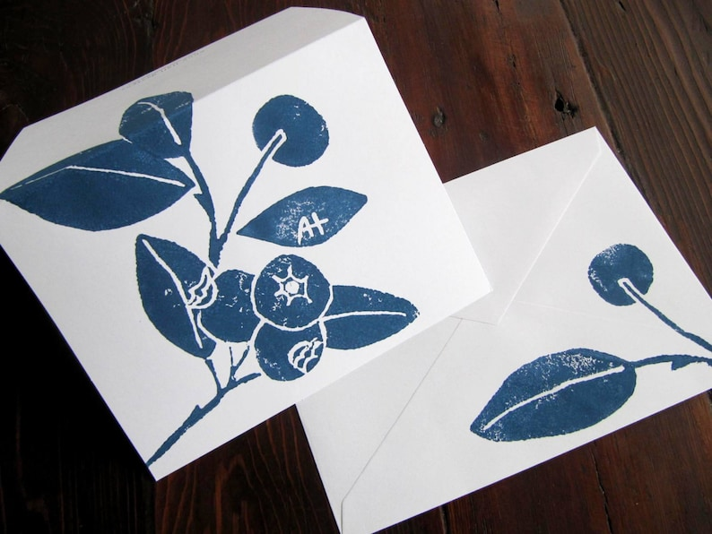 WILD BLUEBERRY Note Cards set of 6 image 0