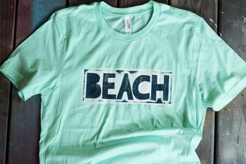 Hand Painted/Printed Beach T-shirt image 0
