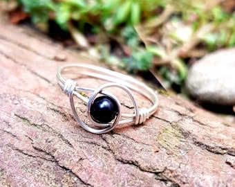 Shungite Ring size 52 and size 54 Shungite jewelry protective stones