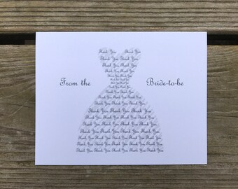 Bridal Shower Thank You Cards Etsy