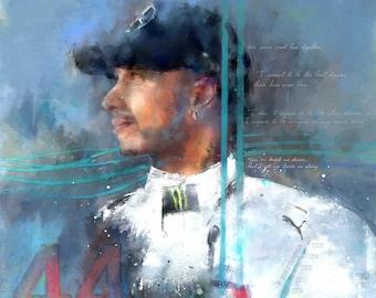 Still I Rise - Lewis Hamilton Portrait: Limited Edition Print