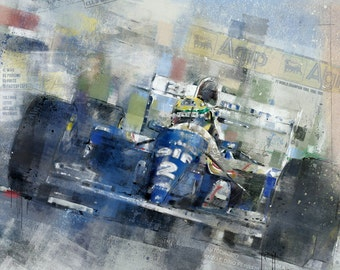 Senna in the FW16: Limited edition print.