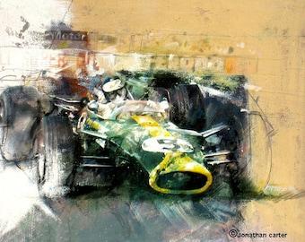 Jim Clark - Lotus 49: Limited edition print.