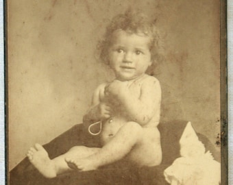 Antique smiling baby photo,  Swiss cabinet photo, CDV Geneve 1910s