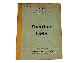 WW2 French blank notebook, Quartier Latin Paris Gibert 1941 notebook