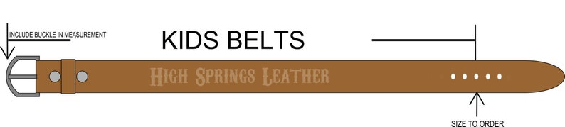 Floral embossed brown leather belt Custom Engraved for Boys and Girls Kid Name Belt