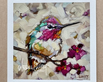 Limited Edition Hummingbird Fine Art PRINT. *NOTE Shipping Details