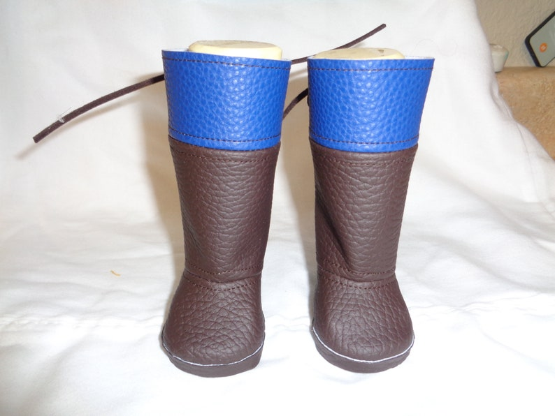 724c582accff6 Blue and Brown Regency Boots- made to fit 18