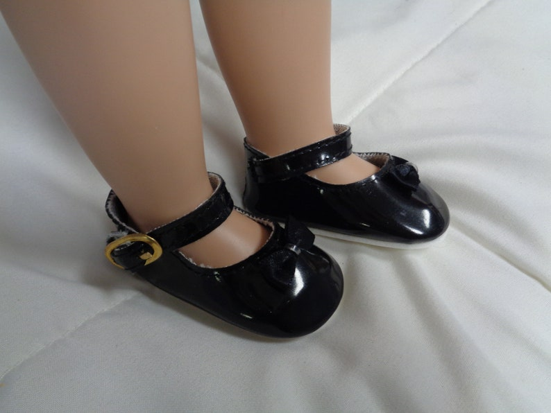65403a743ec28 Black Doll Shoes for 16 inch Dolls- Shoes fit 16