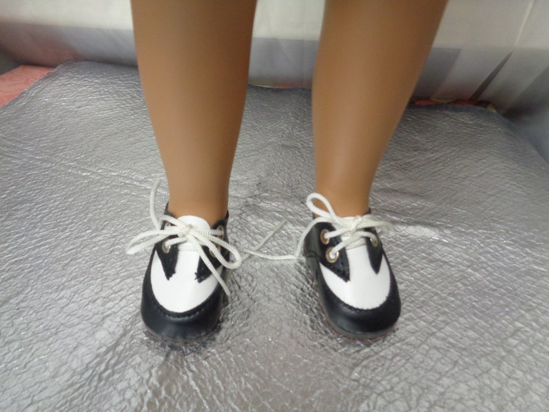 171c128f99d90 Black and White Doll Oxfords Shoes-Tallinas Doll Shoes Vintage Doll  Shoes-Fits A Girl for all time Dolls