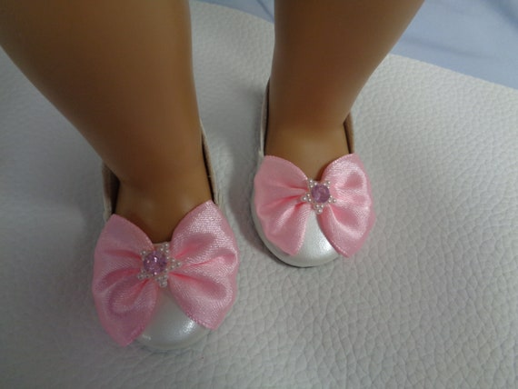 5dccfc684f80e WHITE Doll Shoes for 18 inch Dolls- Shoes fits 18
