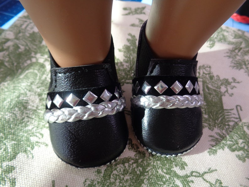 1d48f12c7cb3a Black Ankle Boots- Slip on Ankle Boots--for 18 Inch dolls-- Fits american  Girl and Boy dolls