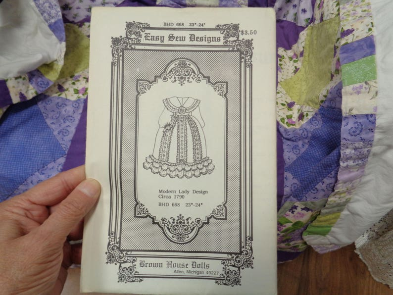 Antique Doll Clothes Pattern #668 For 23-24  Dolls Uncut Brown House