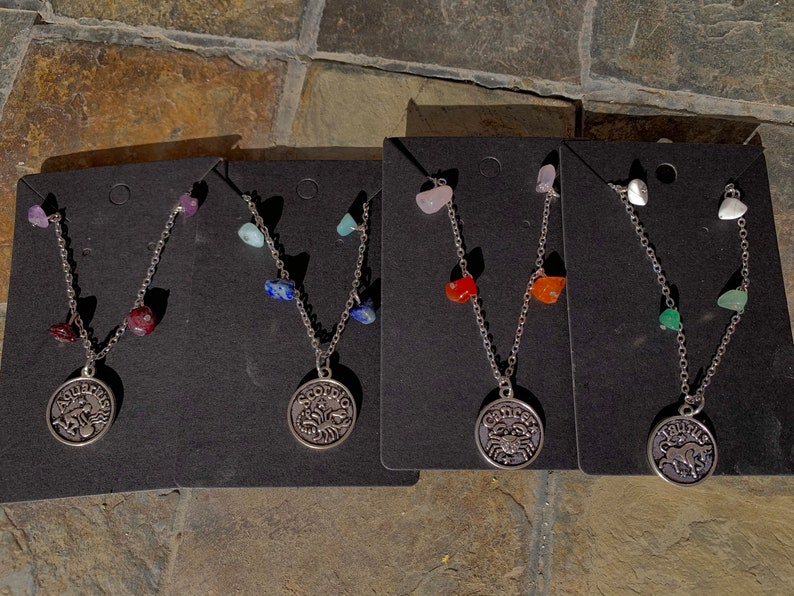 20 inch Zodiac Crystal Necklaces