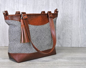 9ef82c1617 Large Womens Crossbody Bag Shoulder Bag Recycled Leather Handbag Tote  Shopper Japanese Shibori Nappy Bag Diaper Bag Overnight Bag Navy