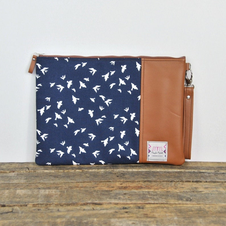 Leather Laptop Case Macbook Case Laptop Bag Womens Laptop Sleeve Macbook Air Case Macbook Pro Case Recycled Leather HP Pavilion Case