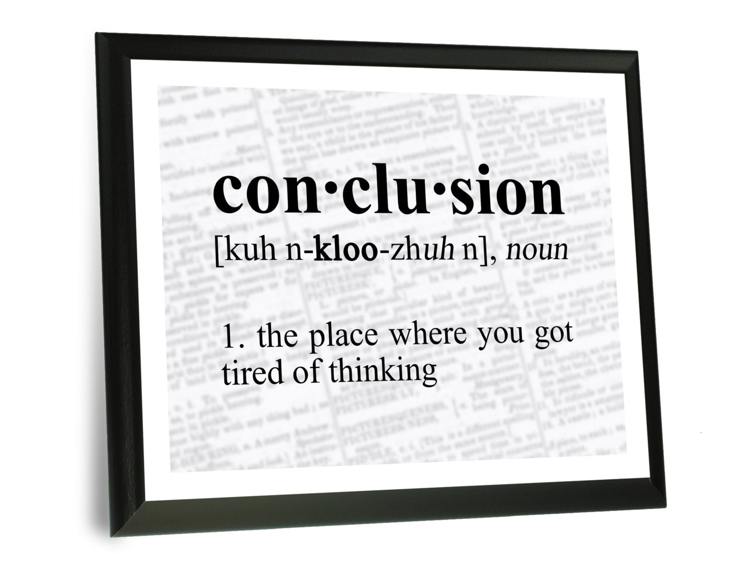 Funny Science Quote Wall Art Conclusion Definition Wood Etsy