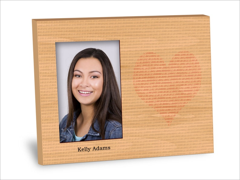 8x10 Frame 4x6 Picture Choice of Finish Binary Heart Picture Frame Personalization Available