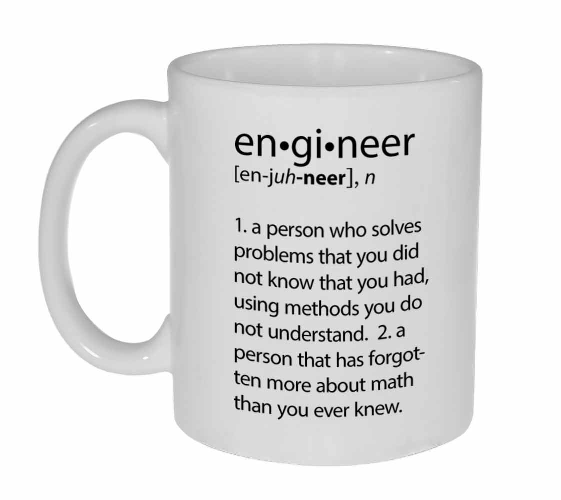 Office Mugs Funny Intended Engineer Definition Funny Coffee Or Tea Mug Definition Etsy