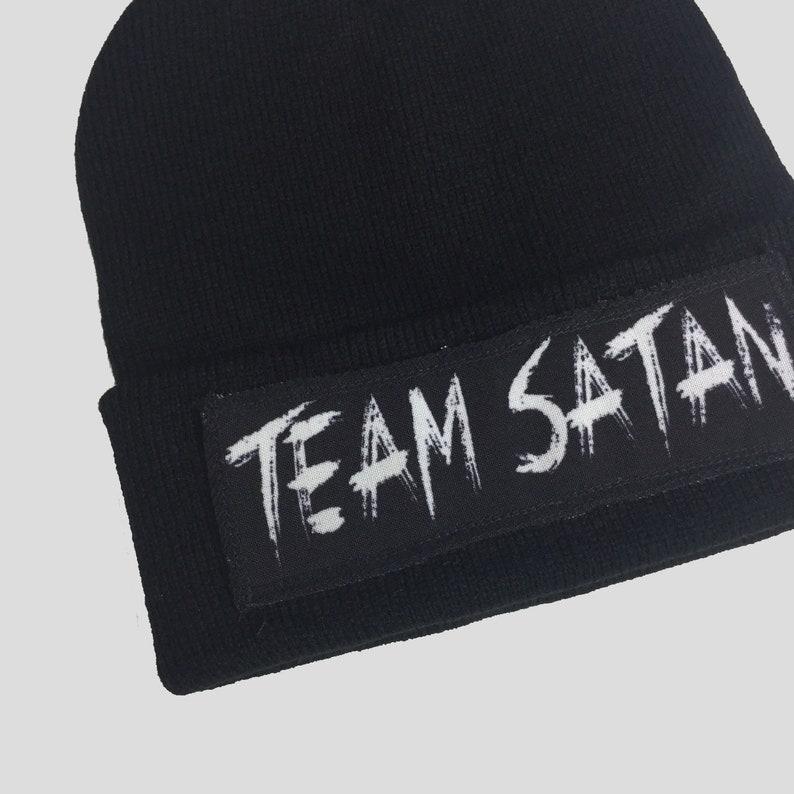 0b637c686c686d Team Satan Winter Beanie Headwear Hipster Indie Swag Dope Hype | Etsy