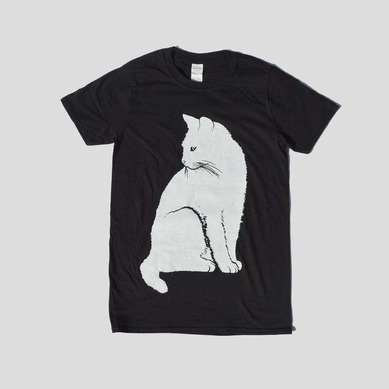 6bceec8ee Cat Print Unisex T-shirt Hipster Indie Swag Dope Hype Black | Etsy
