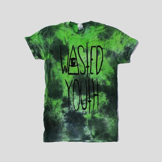56ce15c7b4f8b9 Cute Pastel Goth Psychedelic Green Black Wasted Youth Tie Dye