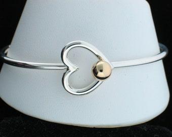 Cape Cod Cranberry Heart Bracelet