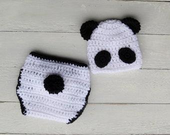 Baby Panda Outfit / Panda Outfit / Baby Panda / Crochet Panda Outfit / Panda Photo Prop / Zoo Photo Prop / Baby Photo Prop / Photo Prop