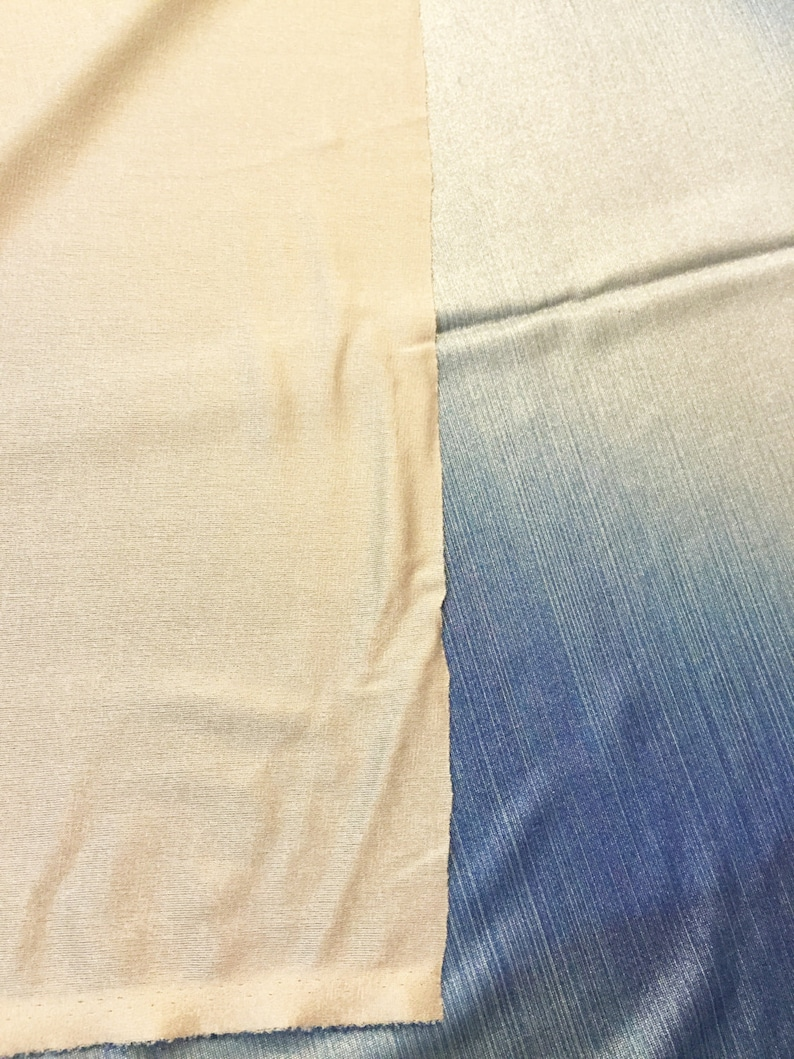 Ombre Blue Lycra Fabric