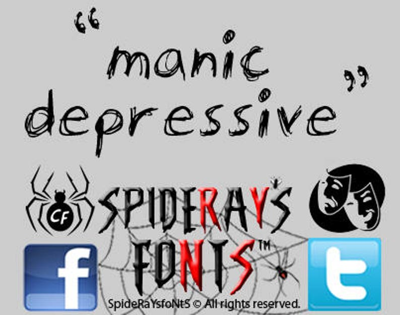 MANIC DEPRESSIVE Commercial Font image 0