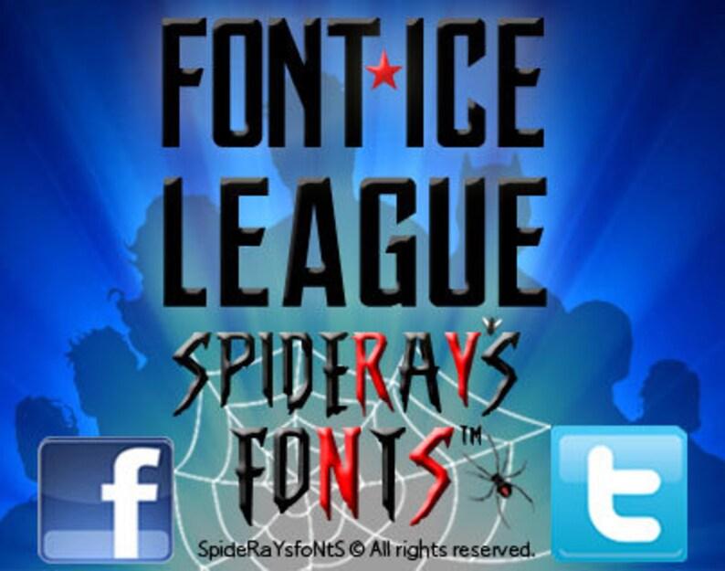 FONT  ICE LEAGUE Fan Font image 0