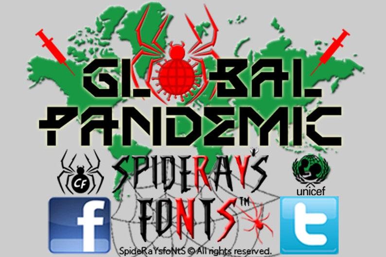 GLOBAL PANDEMIC Lockdown Font image 0