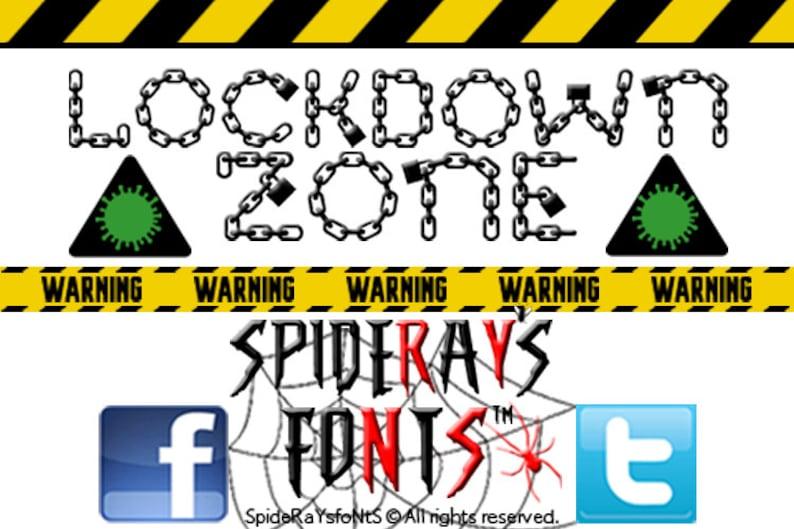 LOCKDOWN ZONE Lockdown Font image 0