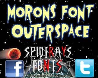M0R0Ns FoNT OuTeRsPacE Commercial Font