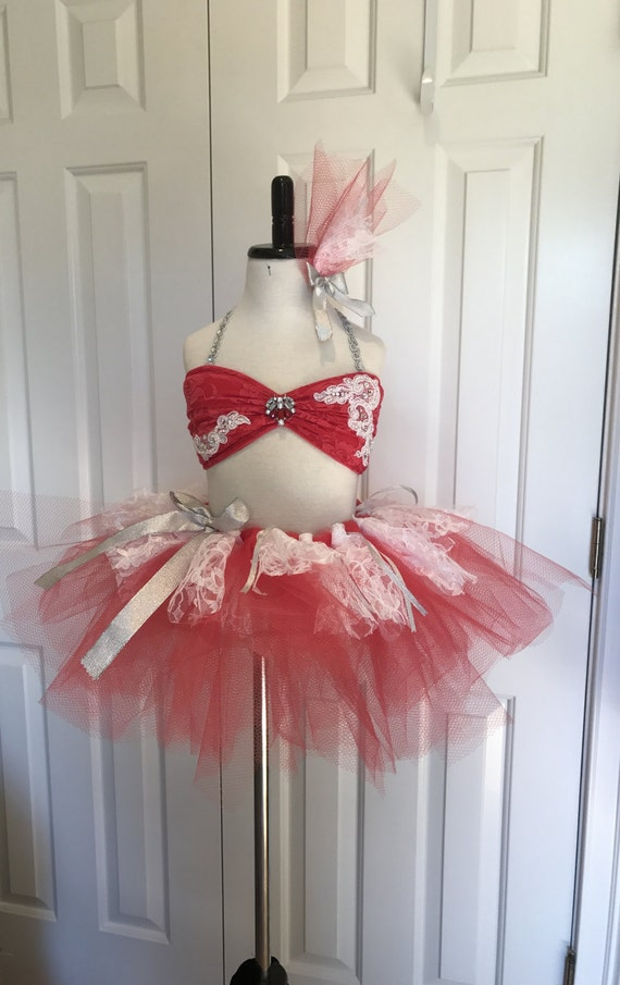 IN STOCK Peach Artstone Contemporary Lyrical Ballet Two Piece  Dance Costume
